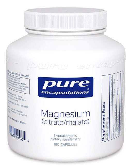 Magnesium (citrate/malate) by Pure Encapsulations