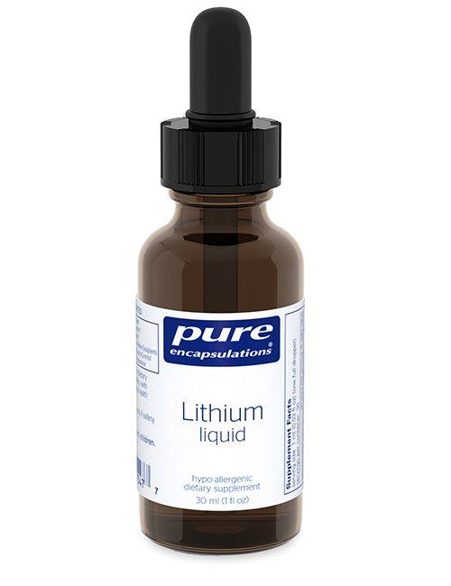 Lithium liquid (micro-dose) 30 ml by Pure Encapsulations
