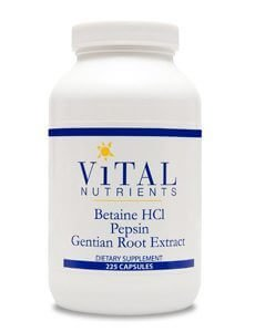 Betaine HCL Pepsin &#38 Gentian Root Extract by Vital Nutrients