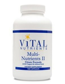 Multi-Nutrients 2 Citrate/Malate Formula with Copper &#38 without Iron by Vital Nutrients