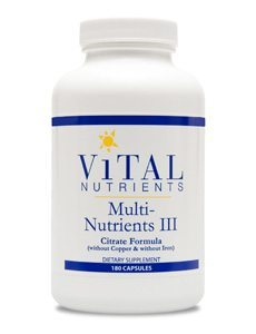Multi-Nutrients 3 Citrate/Malate Formula without Copper or Iron by Vital Nutrients