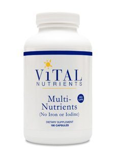 Multi-Nutrients Veg Caps no Iron or Iodine by Vital Nutrients