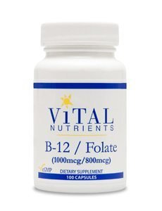 Vitamin B12/Folate (L-5-MTHF) by Vital Nutrients